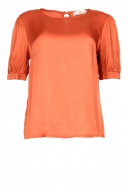 Aaiko |  Top with pleats Sanna | red  | Picture 1