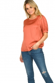 Aaiko |  Top with pleats Sanna | red  | Picture 4