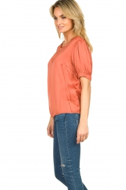 Aaiko |  Top with pleats Sanna | red  | Picture 6