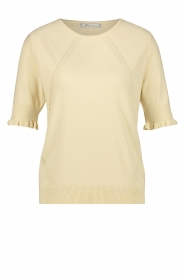 Aaiko |  Top with ruffles Raissa | natural  | Picture 1