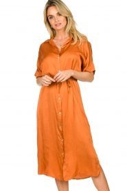 Aaiko |  Midi button dress Sienne | orange  | Picture 2