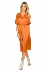 Aaiko |  Midi button dress Sienne | orange  | Picture 3