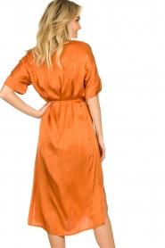 Aaiko |  Midi button dress Sienne | orange  | Picture 7