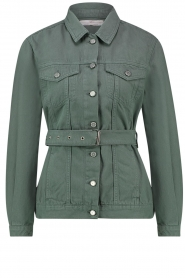 Aaiko |  Belted jacket Caily | green  | Picture 1