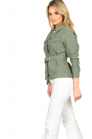 Aaiko |  Belted jacket Caily | green  | Picture 5