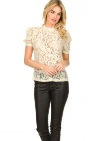 Aaiko |  Lace top Loise | natural  | Picture 4