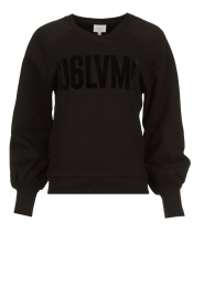 Dante 6 |  Sweater with balloon sleeves Love Me | black  | Picture 1