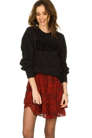 Dante 6 |  Sweater with balloon sleeves Love Me | black  | Picture 6