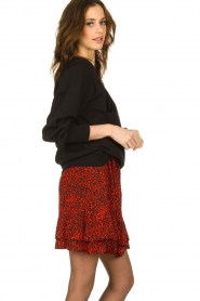 Dante 6 |  Sweater with balloon sleeves Love Me | black  | Picture 4