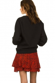 Dante 6 |  Sweater with balloon sleeves Love Me | black  | Picture 5