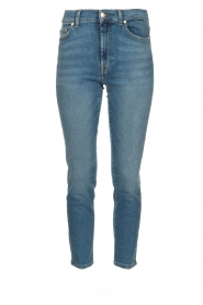 7 For All Mankind | Mid waist skinny jeans Roxanne | blauw  | Afbeelding 1