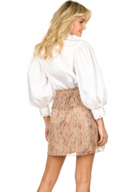 IRO |  Ruffle skirt with lurex Joucas | pink  | Picture 6