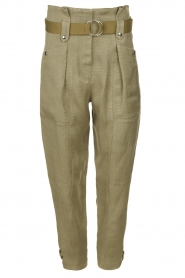 IRO |  Paperbag pants Mohan | green  | Picture 1
