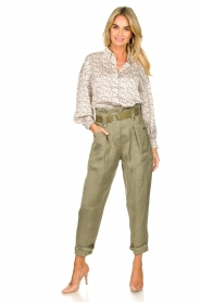 IRO |  Paperbag pants Mohan | green  | Picture 3