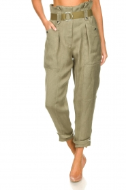 IRO |  Paperbag pants Mohan | green  | Picture 4