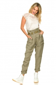 IRO |  Paperbag pants Mohan | green  | Picture 2