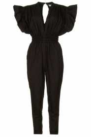 IRO |  Jumpsuit with wide ruffle sleeves Pleona |  black  | Picture 1