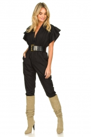 IRO |  Jumpsuit with wide ruffle sleeves Pleona |  black  | Picture 6