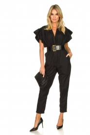 IRO |  Jumpsuit with wide ruffle sleeves Pleona |  black  | Picture 2