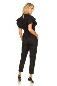 IRO |  Jumpsuit with wide ruffle sleeves Pleona |  black  | Picture 5