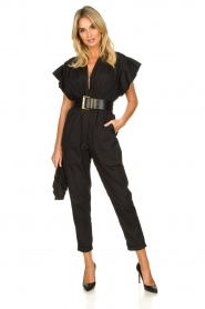IRO |  Jumpsuit with wide ruffle sleeves Pleona |  black  | Picture 3