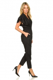 IRO |  Jumpsuit with wide ruffle sleeves Pleona |  black  | Picture 4