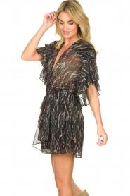 IRO |  Print dress with  lurex Buoux | black  | Picture 4