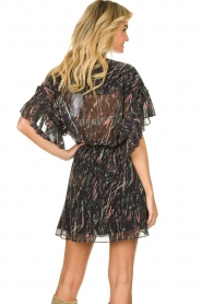 IRO |  Print dress with  lurex Buoux | black  | Picture 6