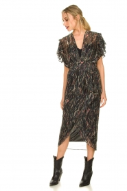 IRO |  Midi dress with lurex Gargas | black  | Picture 3
