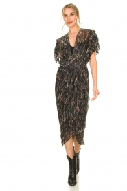 IRO |  Midi dress with lurex Gargas | black  | Picture 2
