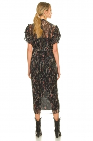 IRO |  Midi dress with lurex Gargas | black  | Picture 5