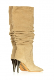 IRO |  Suede pull-on boots Bailey | light green  | Picture 3