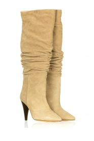 IRO |  Suede pull-on boots Bailey | light green  | Picture 4