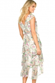 Hale Bob |  Floral printed dress with ruffles Georgette | naturel  | Picture 8