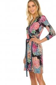 Hale Bob |  Floral printed wrap dress Chelsey | black  | Picture 4