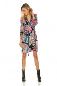 Hale Bob |  Floral printed wrap dress Chelsey | black  | Picture 3