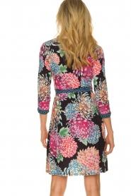 Hale Bob |  Floral printed wrap dress Chelsey | black  | Picture 5