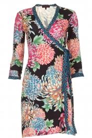 Hale Bob |  Floral printed wrap dress Chelsey | black  | Picture 1