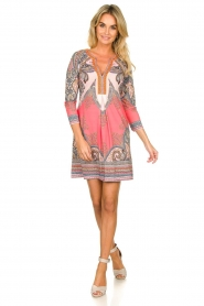 Hale Bob |  Microfiber dress with print Lolo | red  | Picture 3