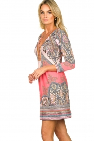 Hale Bob |  Microfiber dress with print Lolo | red  | Picture 4