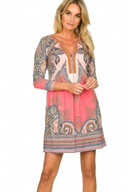 Hale Bob |  Microfiber dress with print Lolo | red  | Picture 2