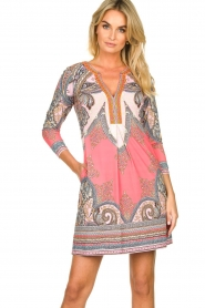 Hale Bob |  Microfiber dress with print Lolo | red  | Picture 6
