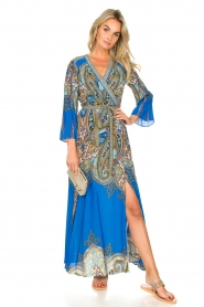 Hale Bob |  Printed maxi dress Chesse | blue  | Picture 2