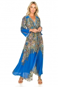 Hale Bob |  Printed maxi dress Chesse | blue  | Picture 6