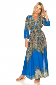 Hale Bob |  Printed maxi dress Chesse | blue  | Picture 7