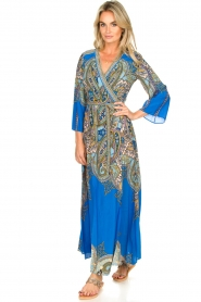 Hale Bob |  Printed maxi dress Chesse | blue  | Picture 3