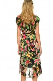 Hale Bob |  Floral printed wrap dress Juliette | black  | Picture 5
