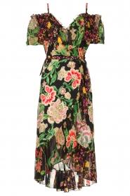 Hale Bob |  Floral printed wrap dress Juliette | black  | Picture 1