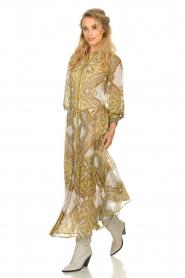 Hale Bob |  Printed maxi dress Jules | white  | Picture 3