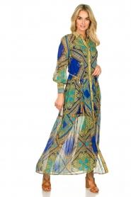 Hale Bob |  Printed maxi dress Jules | blue  | Picture 2